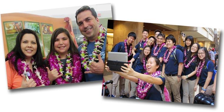 Oahu Lei Greeting at Honolulu Airport