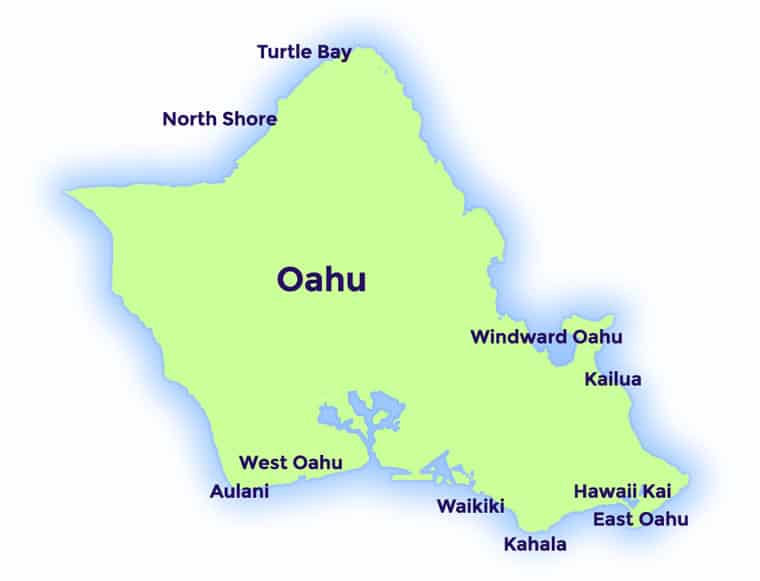 oahu-map-colored